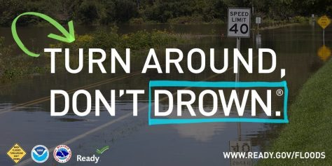 Graphic: Turn Around, Don't Drown.
